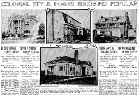 Dose's big home in his namesake addition appears here on the far left of the illustrations running below the feature's header. It dates from August 3, 1913. [Please CLICK CLICK]