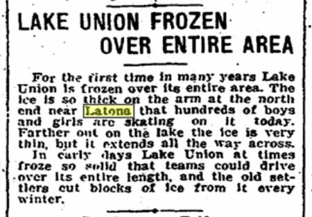 The winter of 1909 was not always kind to the AYP'S preparations.