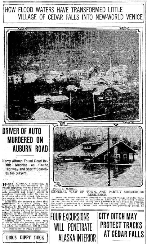 A dooms-day clip from The Seattle Times for May 14, 1915.