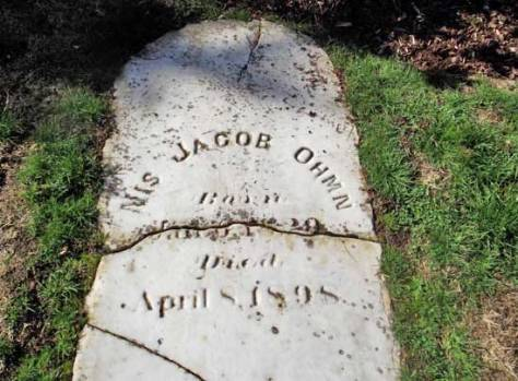 """""""Nis Jacob Ohmn"""" is what is chiseled on the surviving door to his collapsed monument, his """"little room."""""""