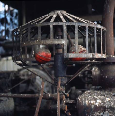"""Shaw writes """"counterbalance assembly in Gas Plant Bldg. Feb. 7, 1974."""