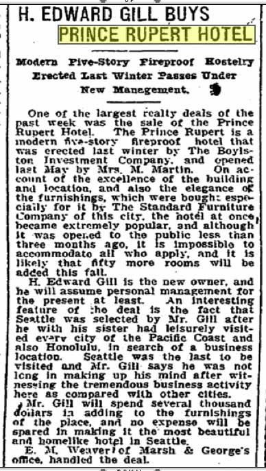 A Seattle Times clip from August 4, 1907.