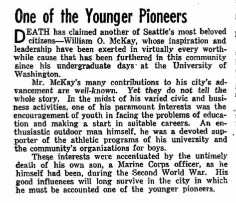 A Seattle Times homage from Dec. 19, 1956.