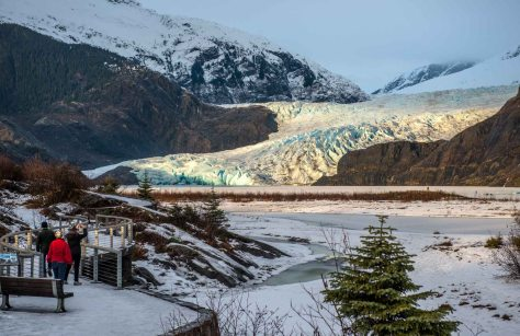 Upon arrival, Robin and Carol drove us out to catch the last rays of sun on the Mendenhall Glacier