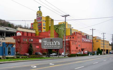 The Rainier Beer brewery during its years of service to Tully's.