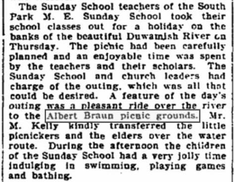 A clip pulled from The Seattle Times for August 11, 1900.