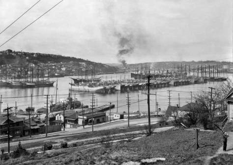Resting in Lake Union, the unique war surplus of Woodrow Wilson's Wooden Fleet.