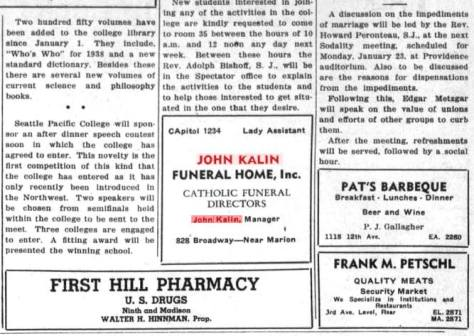 Some first hill news including an ad for the