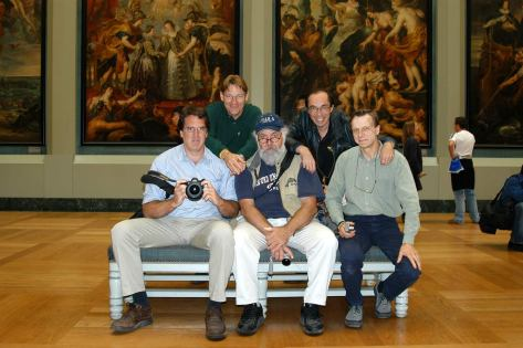 Jean Sherrard (with camera, far left) and Friends at the Louvre, 2005