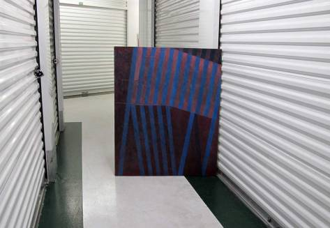 REST IN PEACE - A painting by Paul Heald in Freelard storage, 2015