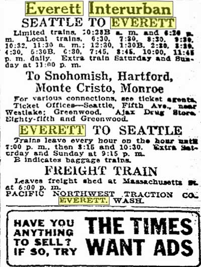 A clipping from the December 26, 1916 Seattle Times.