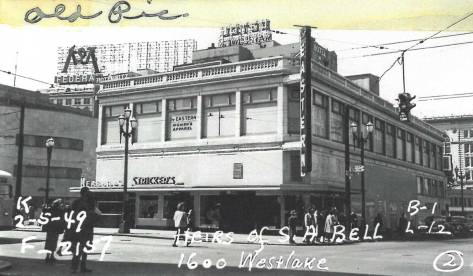 A 1949 look at the somewhat modernized Triangle Building.