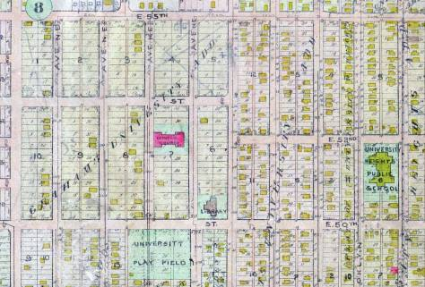 A detail pulled from an early 20th-Century Baist Real Estate map showing