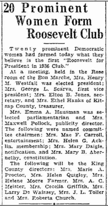 Clip from The Times for February 22, 1935.
