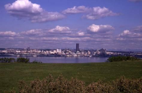 Seattle from West Seattle's Hamilton Park, April 10, 1969.