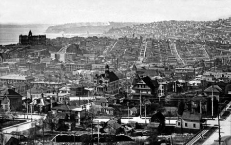 From First Hill to Denny Hill, ca. 1905.