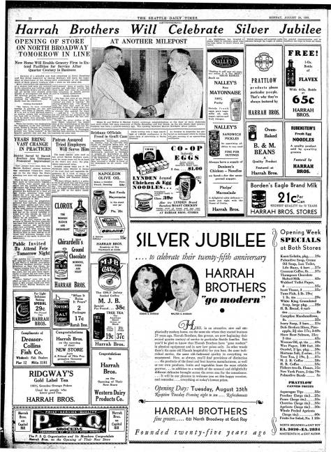The Harrah's make it to their Silver Anniversary two years into the Great Depression. [Click-Cllick to enlarge for reading!]