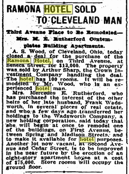 A clip from The Times for April 17, 1908.