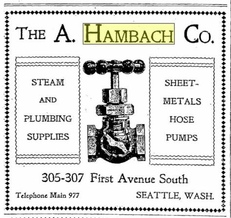 A 1900 ad for Hambach Co.