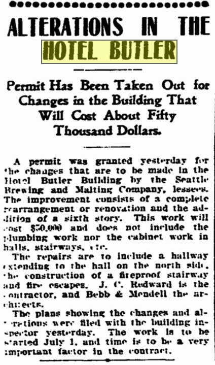 Two Seattle Times clips - above and below - from May 3, 1903.